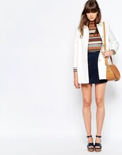 coat,asos,white,white coat,back to school,fall outfits