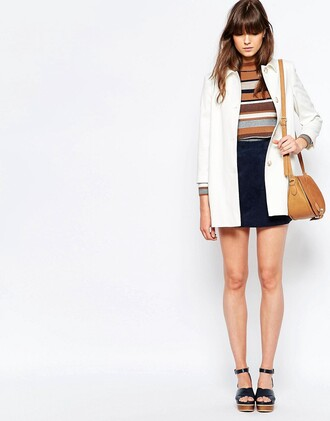 coat asos white white coat back to school fall outfits