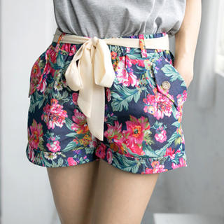 Floral Shorts - Tokyo Fashion | YESSTYLE