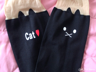 pants romwe tights cats black