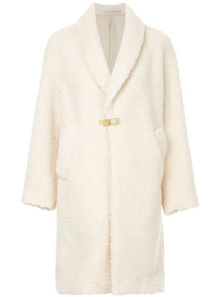 Cityshop coat women midi white wool