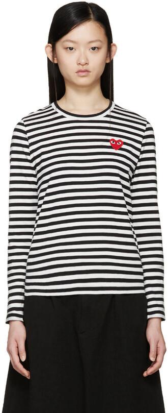 t-shirt shirt heart white black black and white top