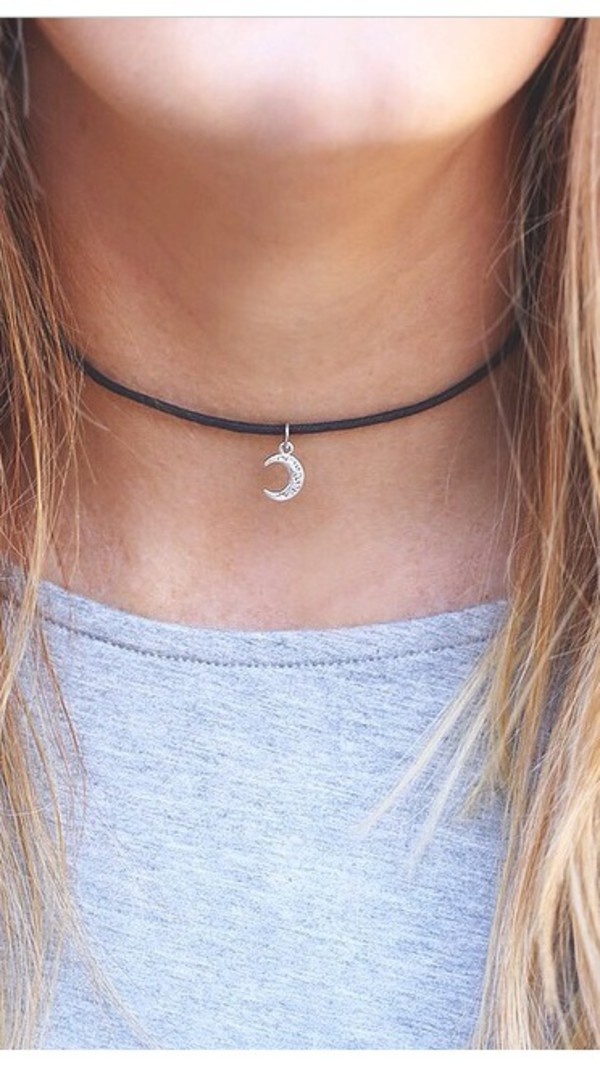 necklace moon choker necklace