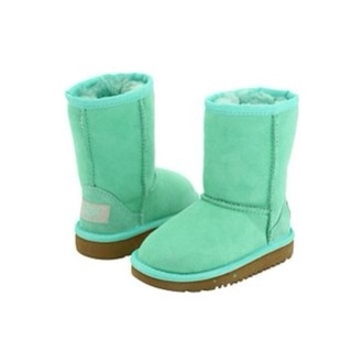 shoes ugg boots mint brown boots fur booties