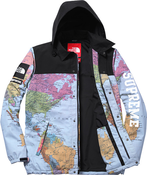 ab739a46b Supreme x The North Face Expedition Coaches Jacket map