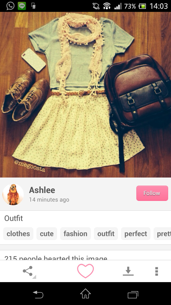 bag brown and black black and brown rucksack blouse scarf shirt skirt shoes
