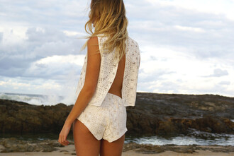 lace white lace lace top white lace top open back tank top racerback summer summer outfits cover up crop crop tops lace crop top embroidered
