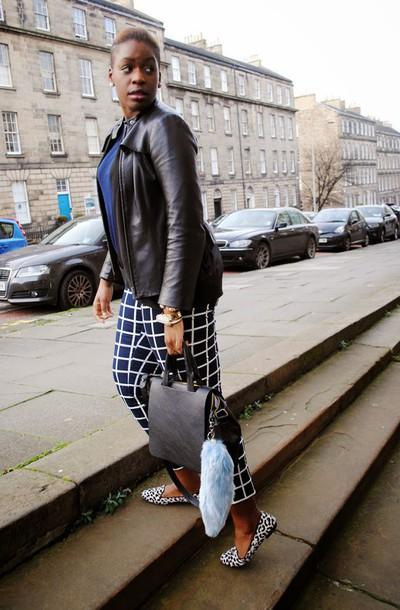 zelda and festus blogger checkered leather jacket keychain