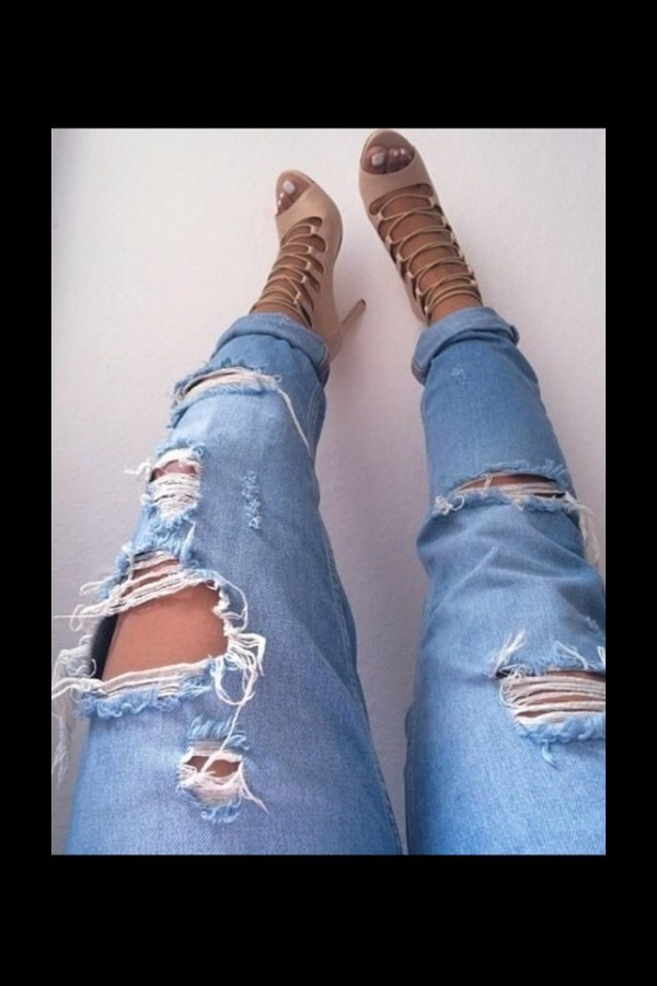 jeans denim ripped jeans shoes