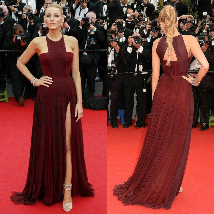 Chiffon Dress - Discount Blake Lively in the 67th Cannes Film ...
