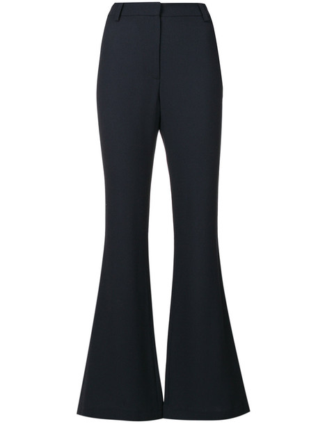 Goat flare high women cotton wool grey pants