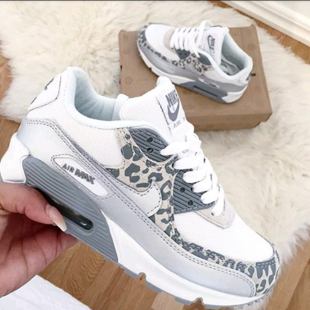 magasin en ligne 41a30 05eda Nike Air Max 90 Custom Gray White Runing Shoes