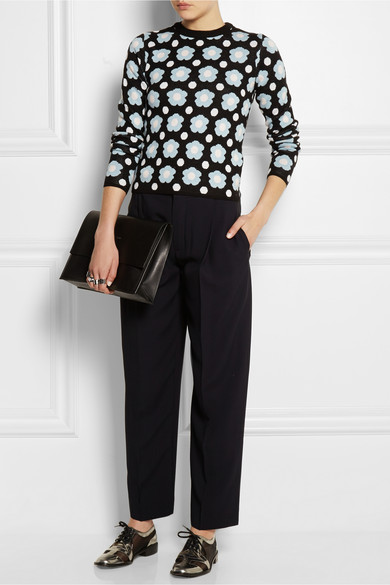 J.W.Anderson|Floral merino wool sweater|NET-A-PORTER.COM