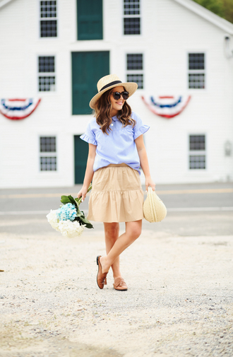 dress corilynn blogger skirt top shoes bag hat jewels sunglasses