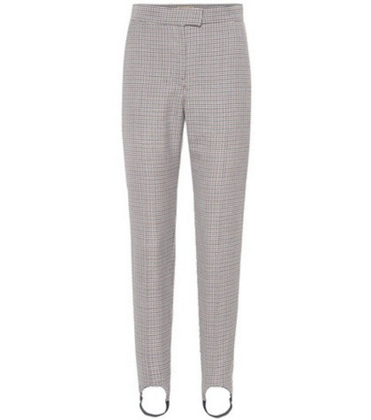 Burberry Checked stirrup pants in brown
