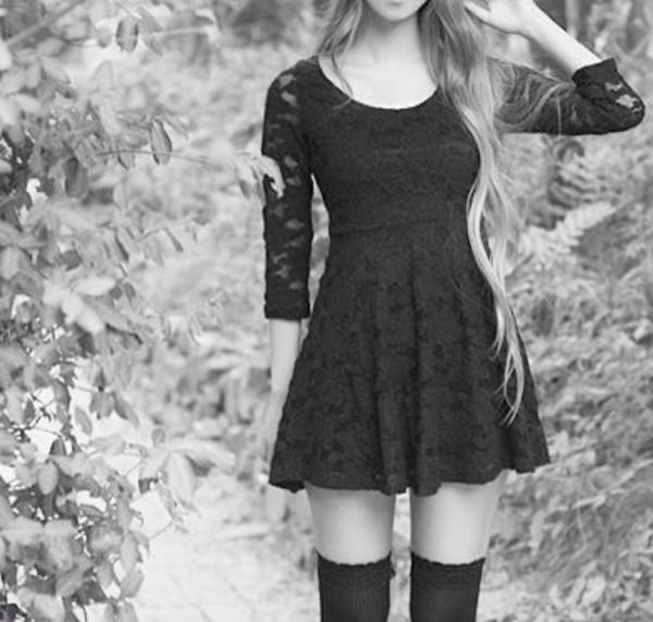 dress black skater dress