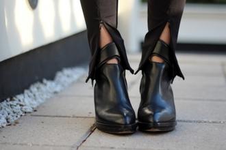 pants leather latex zip bottom black zipped pants