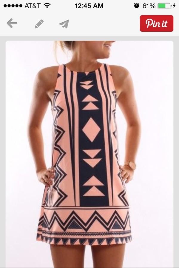 dress vertical aztec