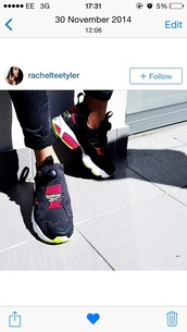 shoes,rebok,rebok womens,black,red,yellow,urban,streetstyle,instagram,blogger