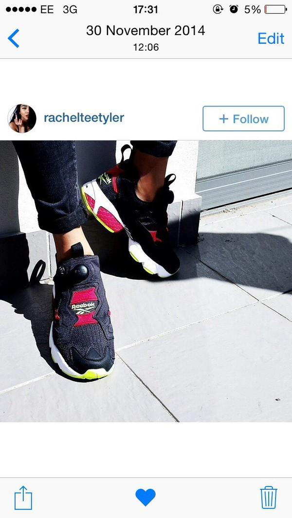 shoes rebok rebok womens black red yellow urban streetstyle instagram blogger