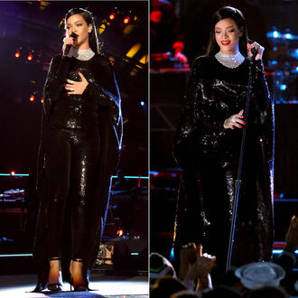 dress sequins sequin dress sparkle rihanna black