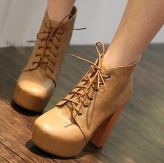 shoes leather shoes beige shoes helpmefindthis high heels supercute