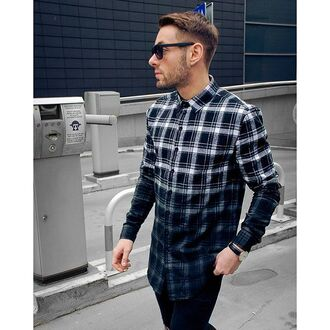 shirt maniere de voir checked shirt dip dyed grey smart fashion trendy style menswear 28719