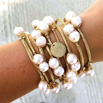 jewels perles beautiful bracelets pearl stacked bracelets sea creatures