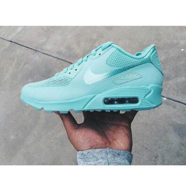 cheap for discount 704ac b037b Shoes, tiffany blue nikes, airmax 90 s - Wheretoget