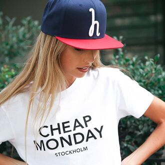 t-shirt cheap monday peppermayo cheap monday tee white tee basic white tee white t-shirt