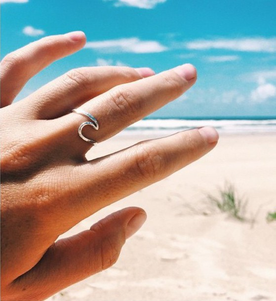 jewels ring beach wave boho gypsy