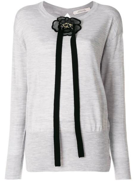 Dorothee Schumacher sweatshirt women embellished wool grey sweater