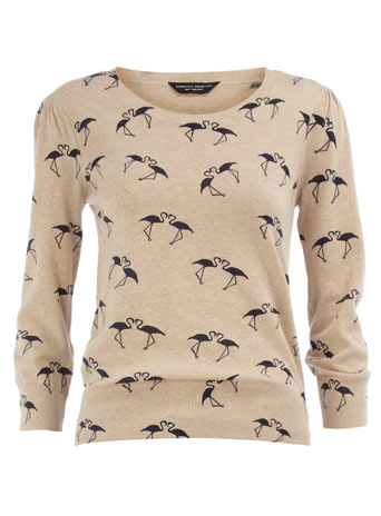 Flamingo print jumper Jumpers Clothing Dorothy Perkins United States