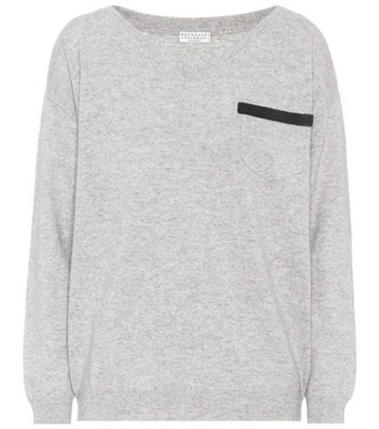 BRUNELLO CUCINELLI sweater grey