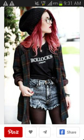shirt,shorts,jacket,plaid,flannel shirt,vintage,cardigan,soft grunge,top,levi's,grunge,coat,fashion,grunge t-shirt,t-shirt,black and white,vans warped tour,tights,hat,knitted beanie,green,red,blue,sunglasses,girl,long,flannel,black,pants,flannel jacket,yellow