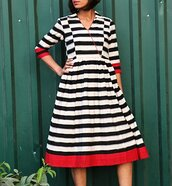 dress,striped dress,black and white dress
