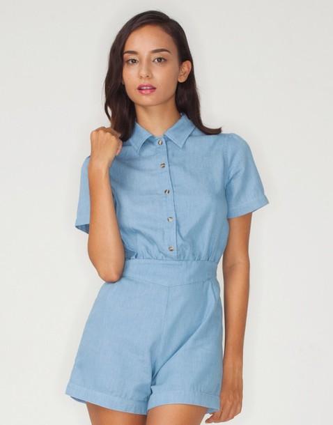 dress romper light blue