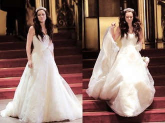 dress gossip girl blair waldorf wedding dress white girly wishlist