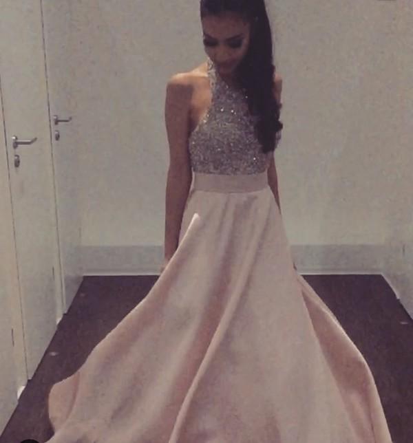 dress rose glitter prom dress pink prom dress glitter dress
