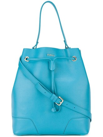 bag bucket bag blue