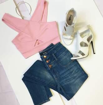 jeans blouse shoes