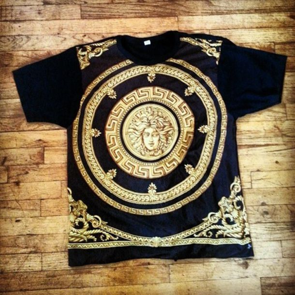 Versace Shirts For Sale Shirt Versace Gold Black Drake