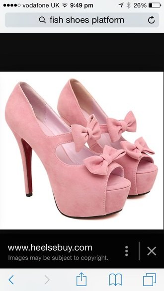 shoes pink bows heels with bows
