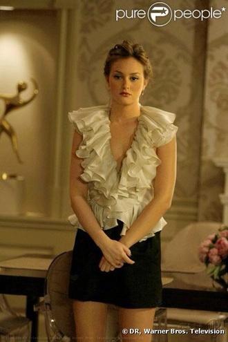 blouse blair waldorf gossip girl leighton meester