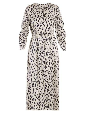 dress silk dress print silk white