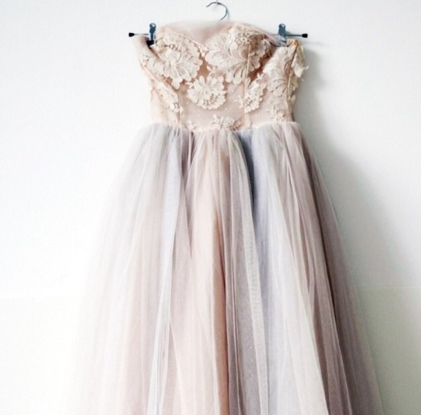 dress lace dress long prom dresses pastel edit tags