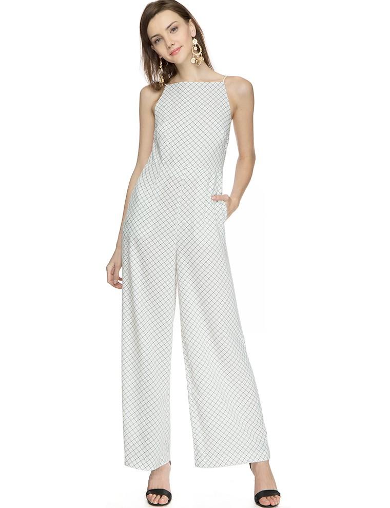 Keepsake Same Love Grid Jumpsuit - Wide Leg Jumpsuit - $174