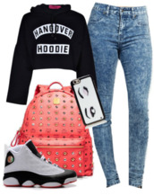 jeans,kate spade,hangover,mcm,iphone 6 case,jordans,phone cover,shoes,acid wash jeans,cropped hoodie,backpack