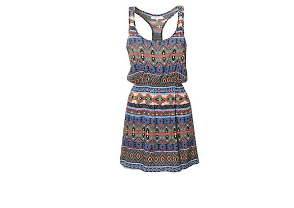 Glamorous Aztec Vest Dress - BANK Fashion