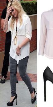 blouse,demi lovato,shoes,jeans